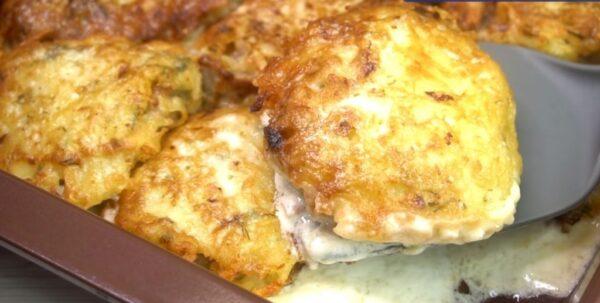 Потрясающее горячее из картофеля. Хоть к обеду, хоть на праздничный стол. Быстро и легко готовится.