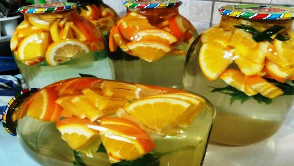 Апельсиновый мохито на зиму. Апельсиновый компот