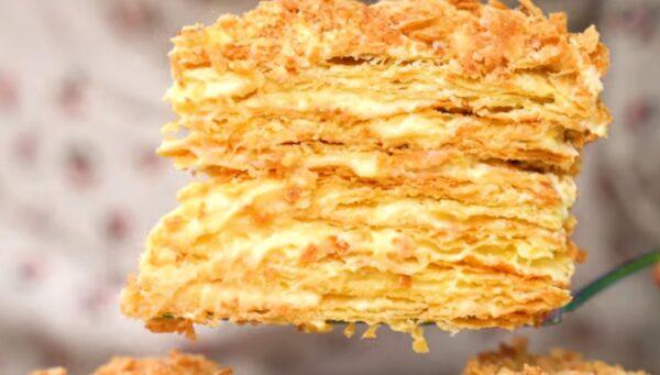 Идеальный торт Наполеон получается по этому рецепту. Очень вкусный крем и слоистые коржи