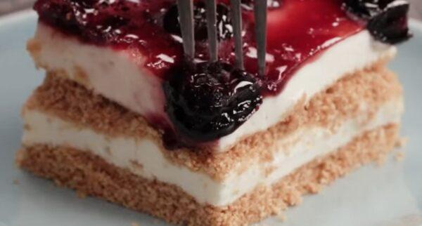Вы больше не сможете жить без этого десерта! Идеальный торт без выпечки